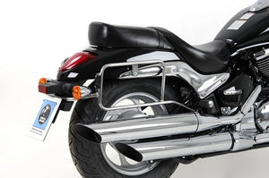 "Suzuki M 800 Intruder Sidecases Carrier - Quick Release ""Lock It"" (Chrome)."
