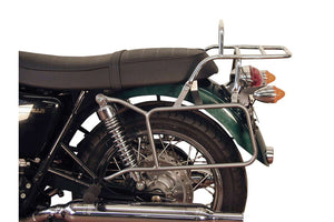 Triumph Bonneville / T100 / SE Carrier - Sidecases + Topcase Set 'Permanently Fixed' (Chrome).