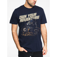 Advenure T-Shirts printed -BLUE - Motousher