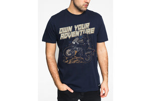 Advenure T-Shirts printed -BLUE