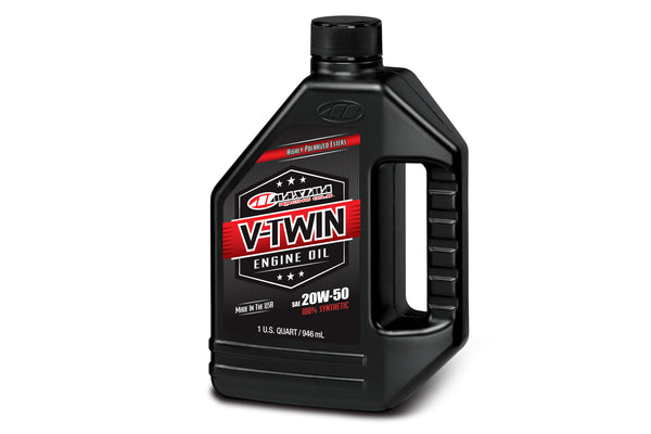 VTwin Oils :- 100% Synthetic (20W50).