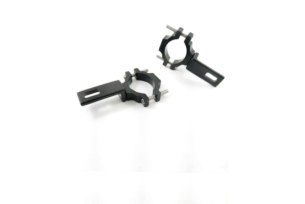 Brackets - Clamps for Aux LED on Fork Tube - Motousher
