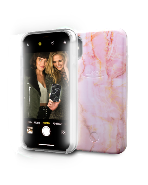 timeless design b209f 68e71 LuMee Selfie iPhone X/XS Marble Case