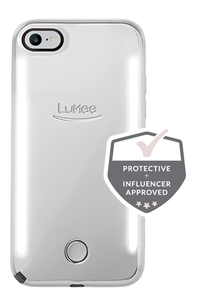 LuMee Duo Mirror iPhone 8 Case [Silver]