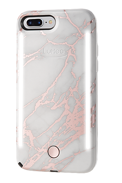 best website c951f dbcb9 LuMee Duo Metallic Marble iPhone 8+/7+/6+ Case