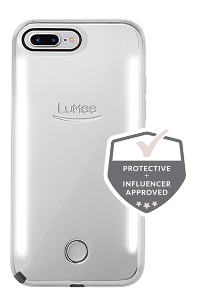 LuMee Duo Mirror iPhone 8 Plus Case [Silver]