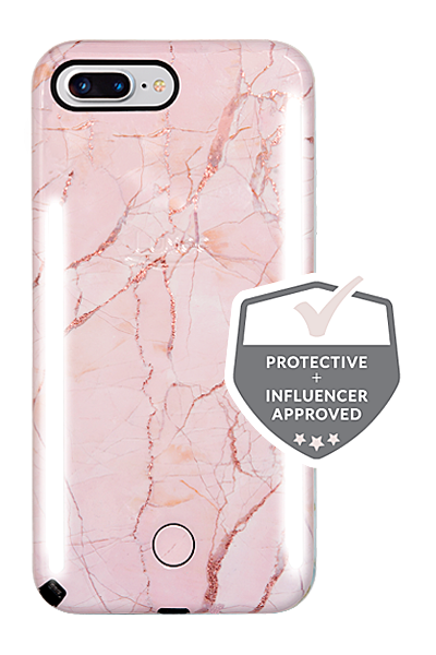 on sale 20b65 1c3ec LuMee DUO Glitter Marble iPhone 8 Plus Case