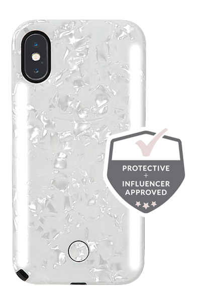 pearl effect iphone xs case