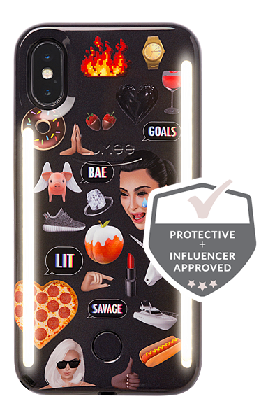 LuMee Duo Kimoji Black Collage Case [iPhone X]