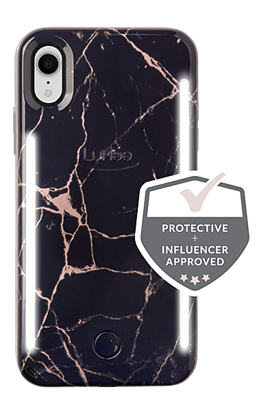 new arrivals 5de49 85c39 LuMee Duo Metallic Marble iPhone XR Case