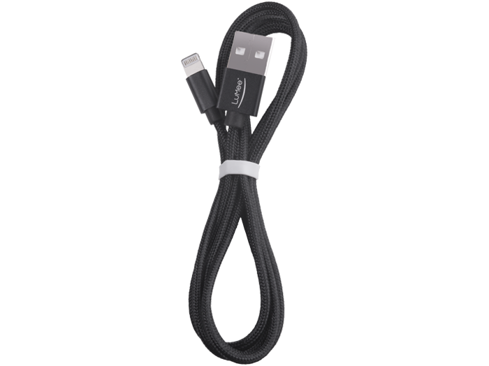 Black LuMee Charging Cord for iPhone [Black]