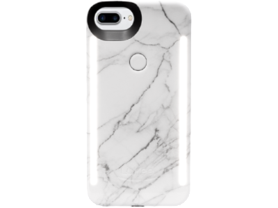 White Marble LuMee Duo Light Up iPhone 7 PLUS, 6s PLUS, 6 PLUS phone case [White Marble]