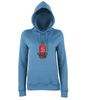 Girl's Comfy College Hoody - Pocket Sriracha : Mini Hot Sauce Keychain Bottle UK - 3
