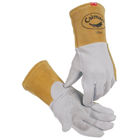 Gray Deersplit Welding Gloves for Tig/Plasma - 1864 - Caiman