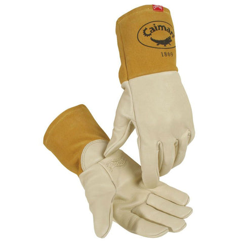 Cow Grain Welding Gloves with Long Cuff, Multi-Task - 1869 - Caiman