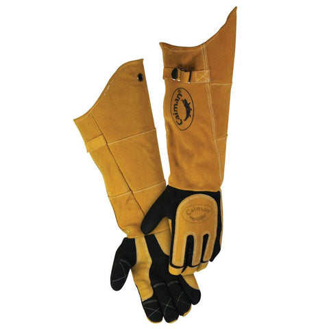 Black Deerskin Welding Glove with 21