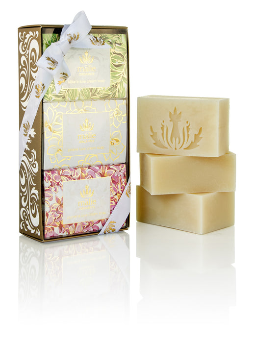 Luxe Cream Soap Trio Gift Set - Plumeria, Pikake, Koke'e - House of Vartan