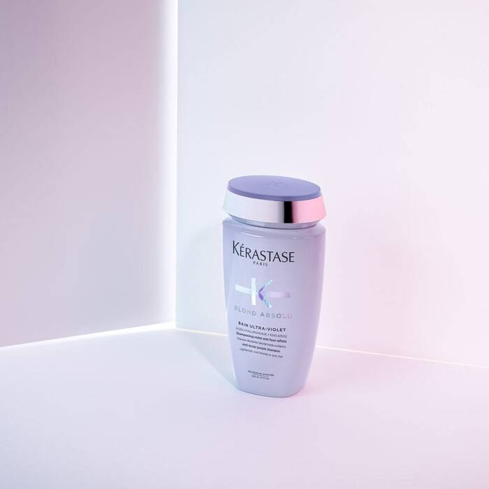 Blond Absolu Bain Ultra-Violet  / Anti-brass, blond, platinum, & silver-perfecting purple shampoo - House of Vartan