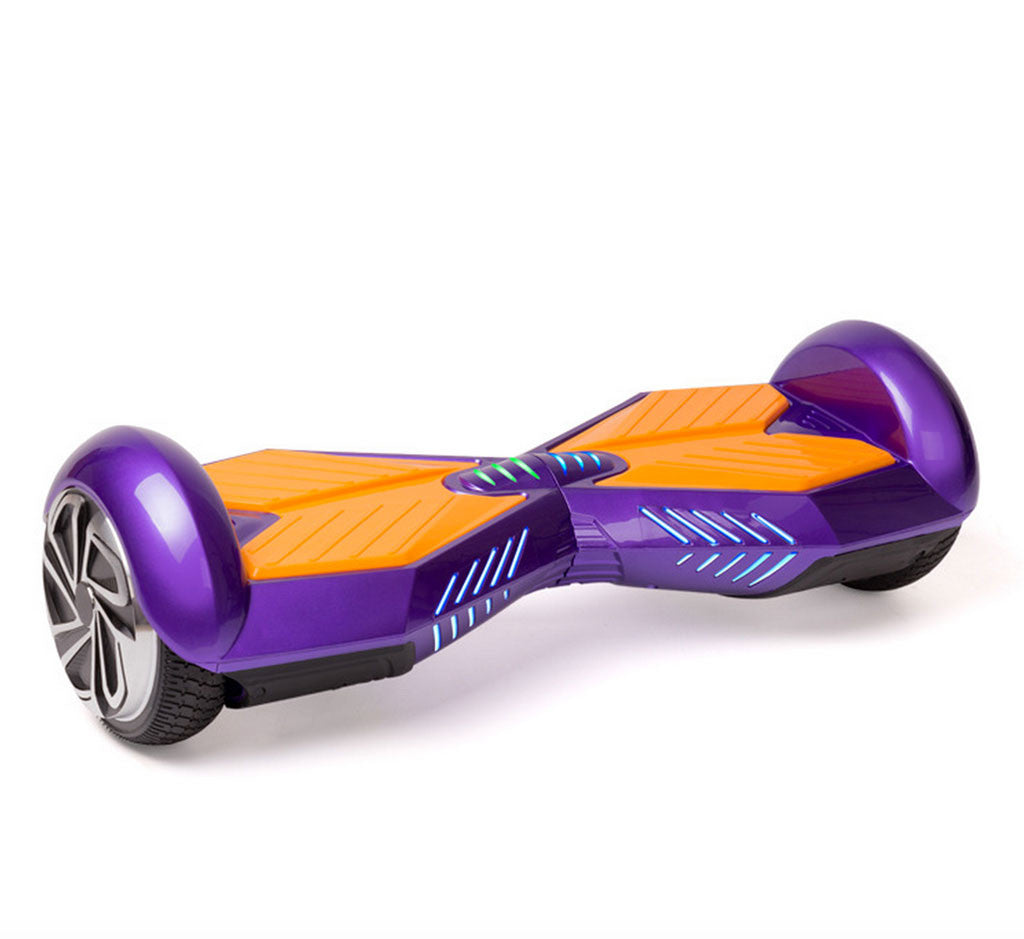 Chrome Color 8 Inch Hoverboard With Bluetooth Speaker Smart Balance Wheel
