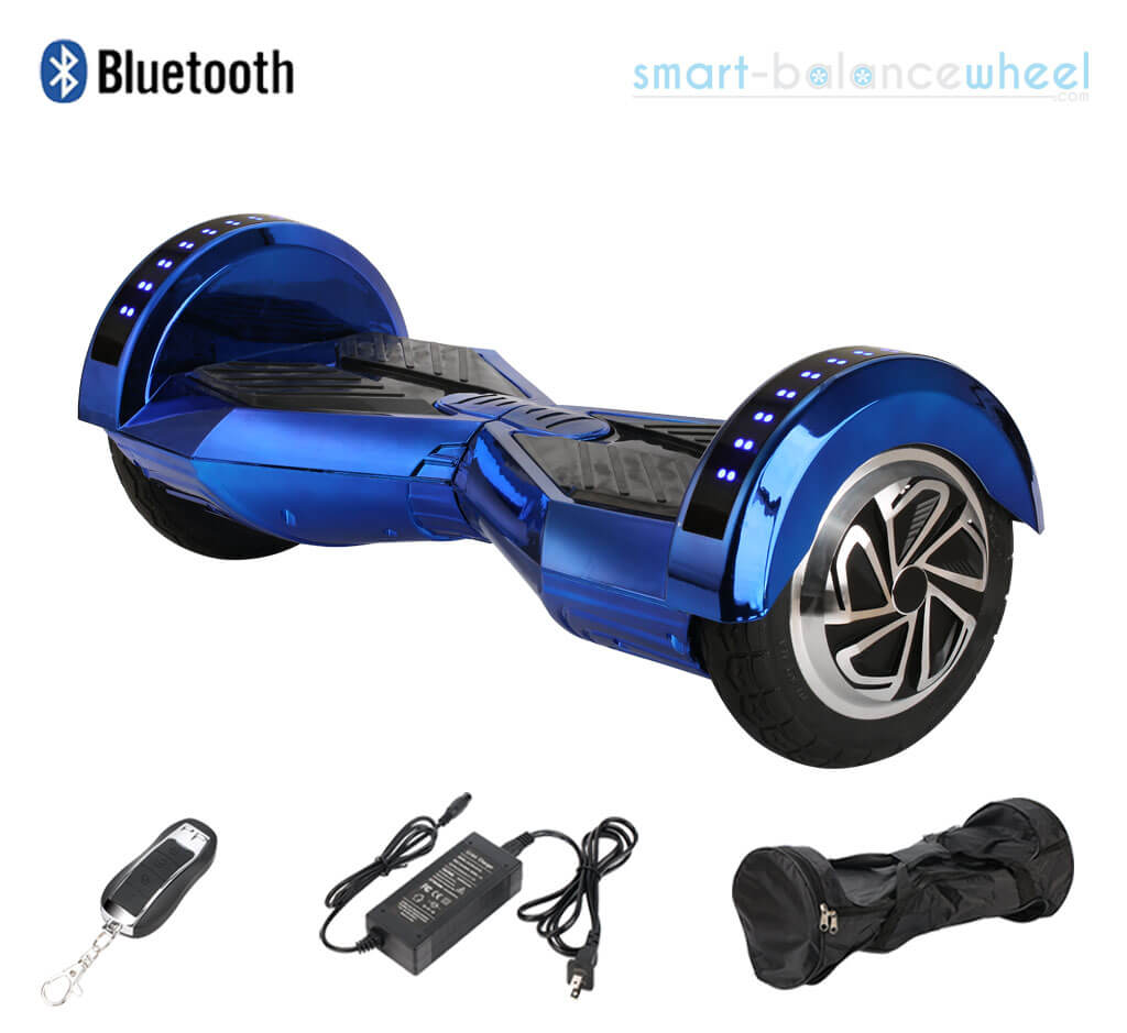 Chrome Blue Lamborghini Hoverboard With Bluetooth and Free ...