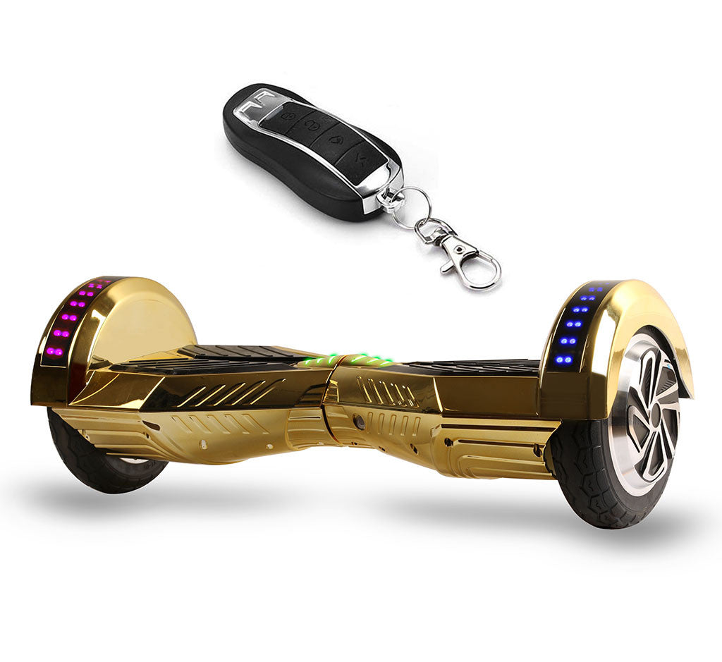 8 Quot Gold Hoverboard With Bluetooth Speakers And Lights Smart Balance Wheel