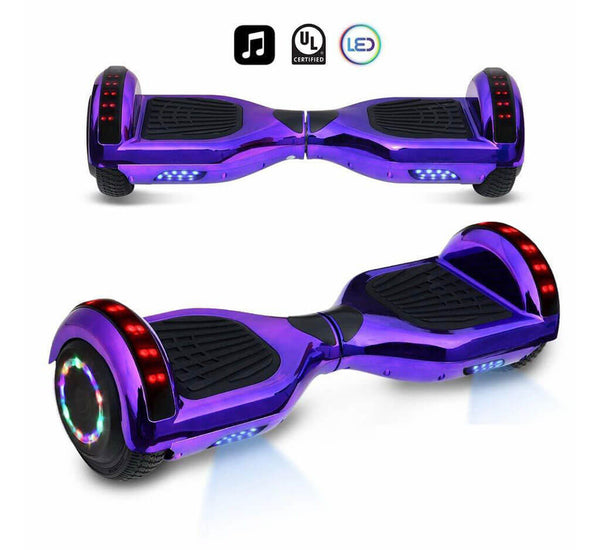 Ul2272 Certified Rose Gold Hoverboard With Bluetooth And Led Lights Smart Balancewheel Com