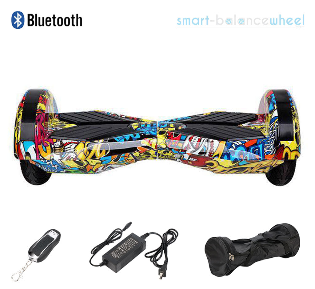 Silver Lamborghini Hoverboard With Bluetooth Speaker And Carrying