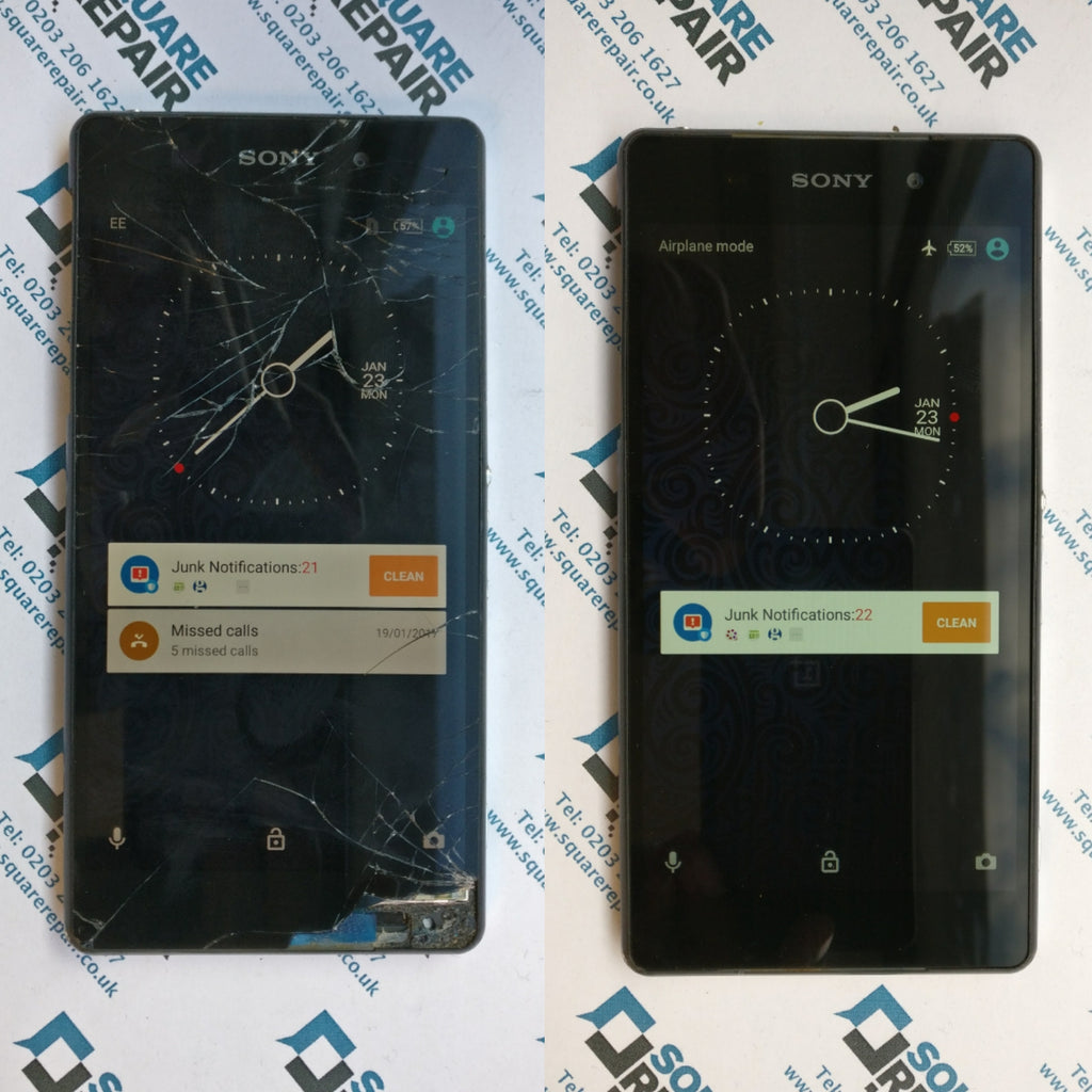 Analogue Xperia z2 smashed screen repair service london