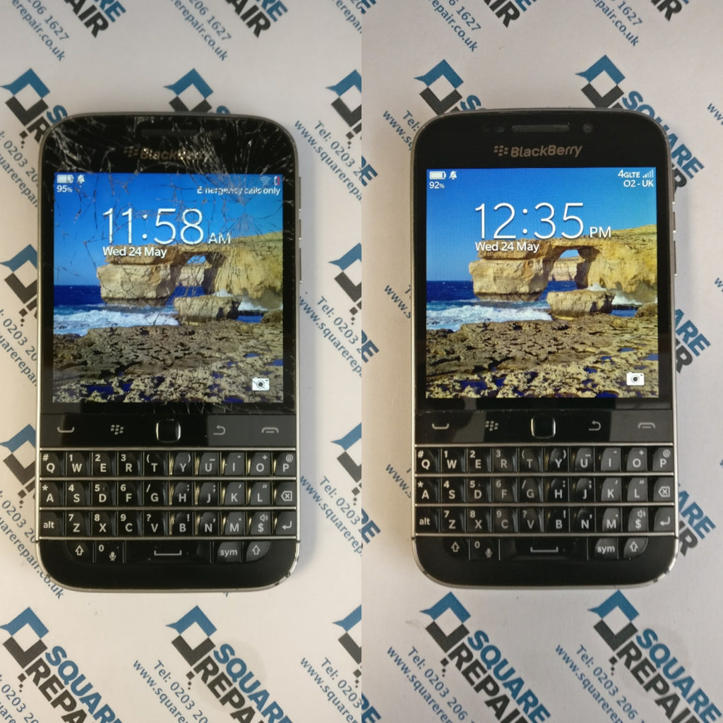 Blackberry Classic Q20 smashed screen repaired in london