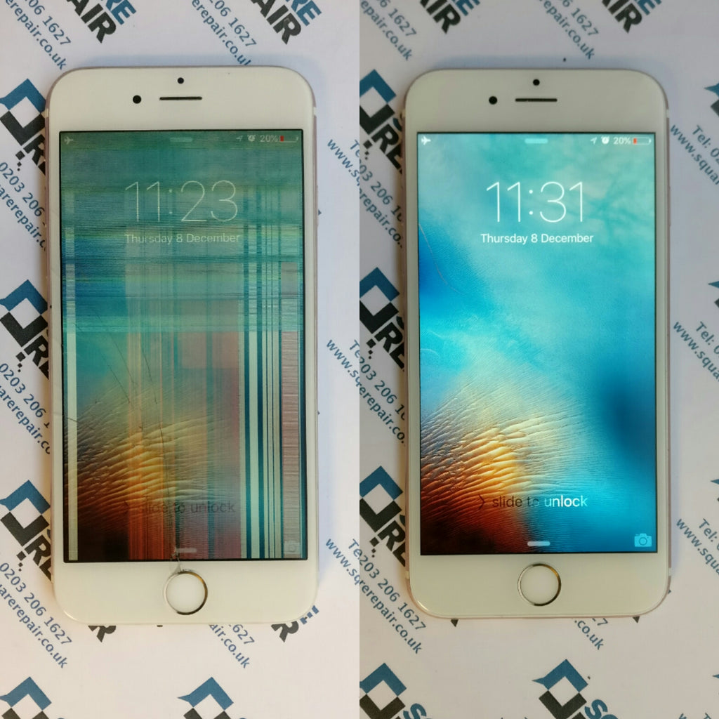 Rose Gold iPhone 6s smashed screen repair, London