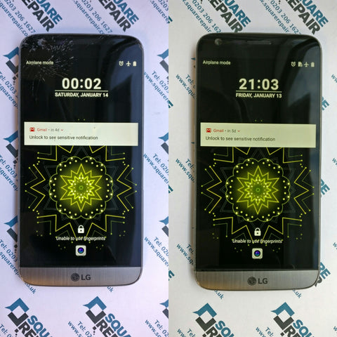 LG G5 Before and After Broken Screen Repair