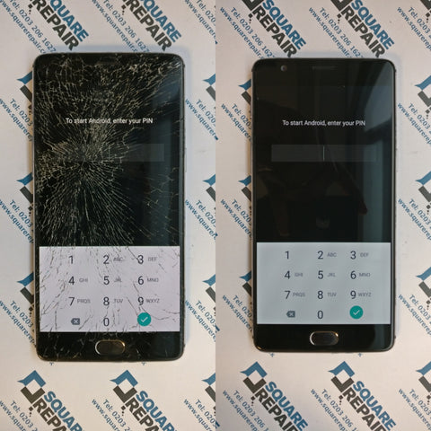 Oneplus 3T cracked glass screen repair, London