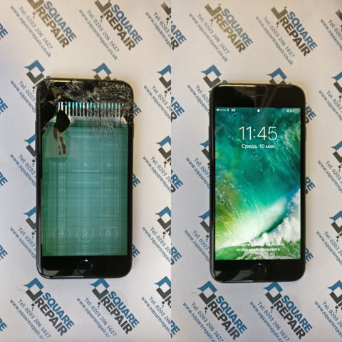 iphone 7 cracked screen and lcd repair in london square repair