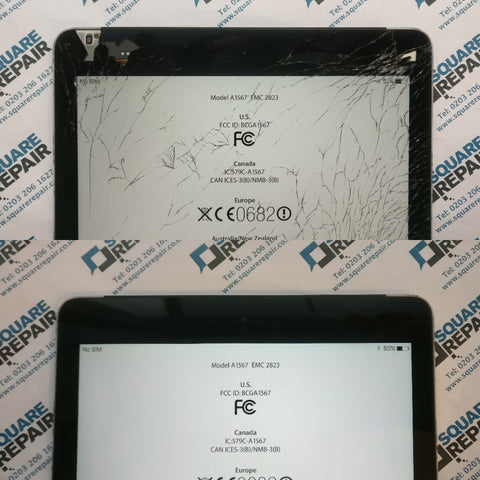 This iPad air 2 took a pretty bad tumble and there result is pretty evident. The glass is smashed and the touchscreen still functions, however as the glass is smashed this can prove very dangerous to the user. In the case with most apple screen repairs theses days, replacing the screen will mean replacing the touchscreen and LCD as the come as a bonded part.  This iPads housing was in good condition ( not having any serious dents) so the repair is straightforward. We remove the broken glass and LCD from the unit and test a brand new original display. When the testing is complete, the home button is transferred to the new display (it's bound to the hardware) and the new iPad display is secured into the device.  Why choose Square Repair:  Fast same-day repairs 1 Year Warranty All payment types accepted  Walk-in iPad air 2 screen replacement Mail-in iPad air 2 screen replacement Courier iPad air 2 screen replacement  If you need to get your device repaired, contact us today!