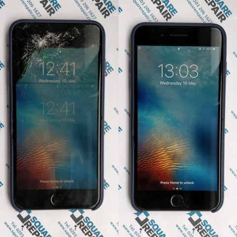 iPhone 7 plus broken LCD and broken glass repair service, near you