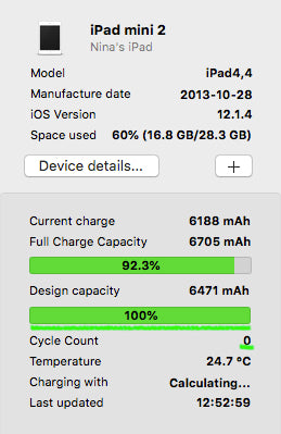 ipad mini 2 battery replacement cycle count after - coconut battery