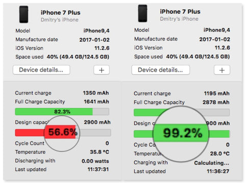 iPhone 7 plus battery replacement service london