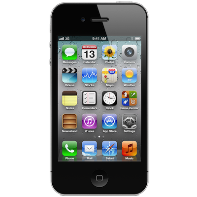 iPhone 4s Screen (Glass & LCD) repair Service Centre London - Black