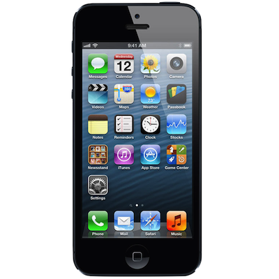 iPhone 5 Broken Screen Repair Service Centre London - Black