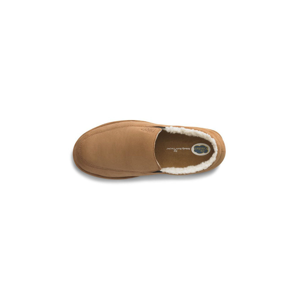 Dr Comfort Relax Slipper Camel Top