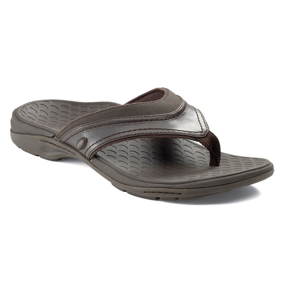 Vasyli Del Mar Brown Men's Sandal Flip Flop