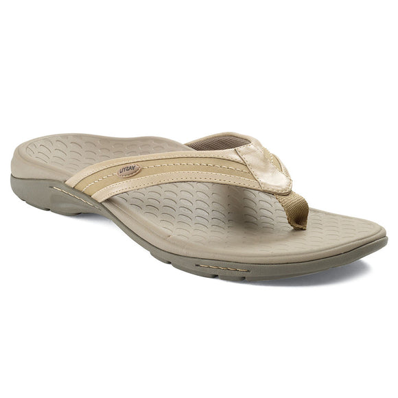 Vasyli Key West Ladies Camel Sandal Flip Flop