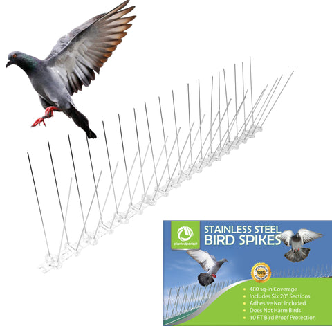 Planted Perfect 10' Bird Control Pigeon Spikes - Planted Perfect