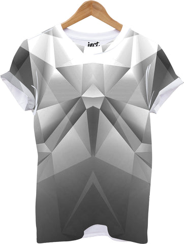 Grey Geometric All Over Print T Shirt - Inct Apparel