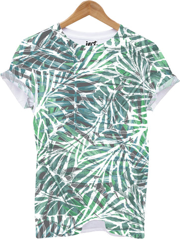 Green Palm All Over Print T Shirt - Inct Apparel