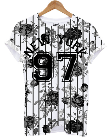 97 Flower New York All Over T Shirt - Inct Apparel