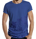 Distinkt Youth Blue Hawaii Half Print T shirt - Inct Apparel - 2