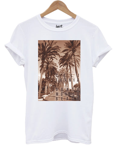 California Santa Monica White T Shirt - Inct Apparel