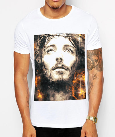 Distinkt Youth Fury Jesus Crew Neck Tshirt - Inct Apparel - 1