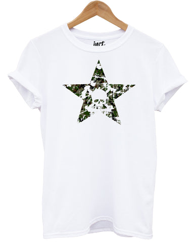 Cross Star Camouflage White T Shirt - Inct Apparel